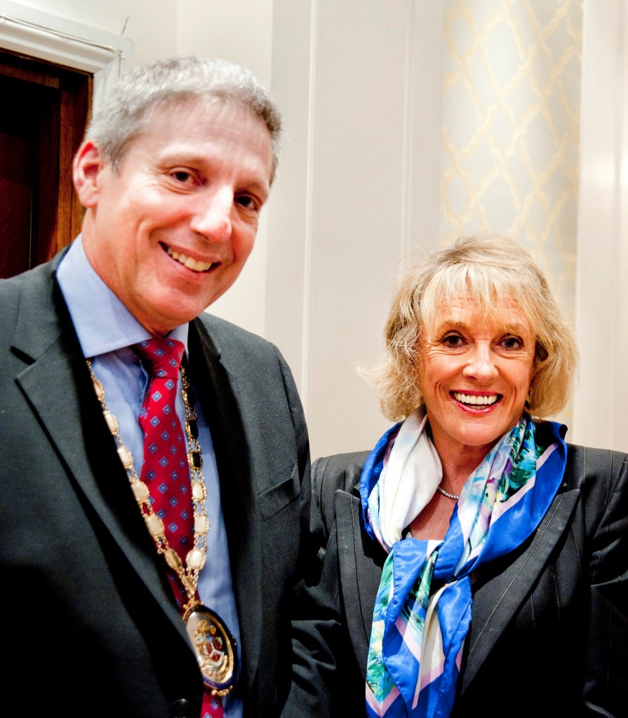 Dame Esther Rantzen with Jason Payne-James at the FFLM Annual Conference 2015